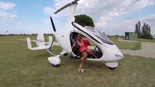 Download Gyrocopter Girl Flying Cavalon from Germany to South of France 2014 Video