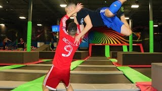 Download WWE MOVES AT THE TRAMPOLINE PARK 4 Video