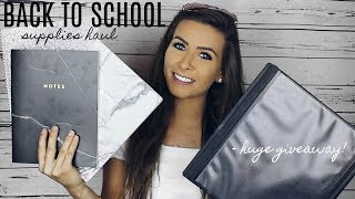 Download AESTHETIC BACK TO SCHOOL SUPPLIES HAUL + HUGE GIVEAWAY (HERSCHEL BACK PACK & MORE) Video