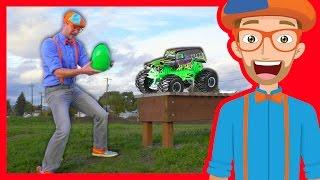 Download Fun Blippi Monster Truck Egg Hunt – Learn Colors with Blippi Video