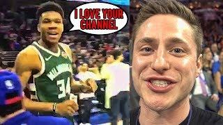 Download GIANNIS TOLD ME HE LOVES MY CHANNEL! Video