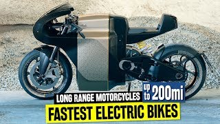 Download 10 Fastest Electric Motorcycles w/ Longest Riding Range up to 200 Miles Video