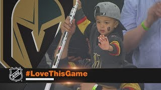 Download Golden Knights clinch playoff berth, gift sticks to fans Video