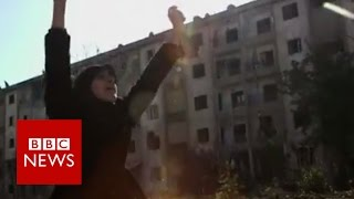 Download Syria: Celebrations as families return to homes in Aleppo - BBC News Video