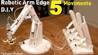Download Amazing - How to make syringhe Hydraulic Robotic arm - 5 movements Video