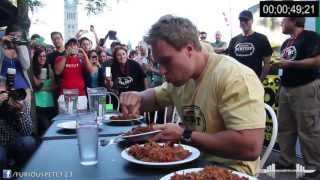 Download World Record Most Pulled Pork Eaten in 6 Minutes (7+lbs) (Must See!!!) Video