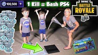 Download 1 kill = Smashed PS4 Fortnite Kid vs Angry Mom in Battle Royal | DavidsTV Video