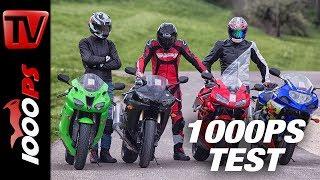 Download 1000PS Test - Gebrauchte 600ccm Supersportler im Vergleich - 4000 bis 5000 Euro - ENG SUBS Video