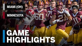 Download Highlights: Miami (OH) at Minnesota | Big Ten Football Video