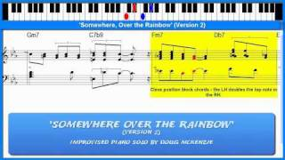 Download 'Somewhere Over the Rainbow' (Version 2) - jazz piano tutorial Video