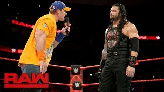 Download John Cena gives Roman Reigns a lesson in ″failure″: Raw, Sept. 11, 2017 Video