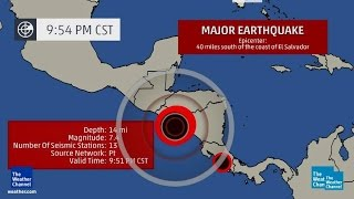 Download POWERFUL MAGNITUDE 7.4 EARTHQUAKE STRIKES OFF COAST OF EL SALVADOR MONDAY NIGHT (OCT 14, 2014) Video