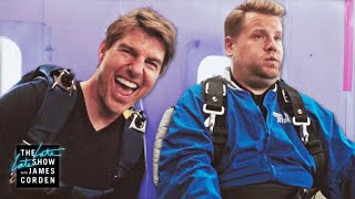 Download Tom Cruise Forces James Corden to Skydive Video