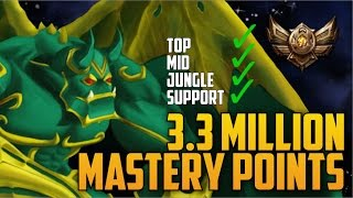 Download Bronze Galio 3,300,000 MASTERY POINTS- Spectate Highest Mastery Points on Galio Video
