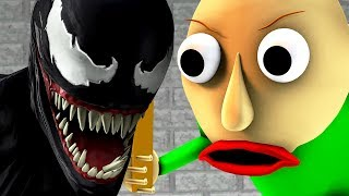 Download BALDI vs VENOM (Baldi's Basics parody horror game 3D animation) Video