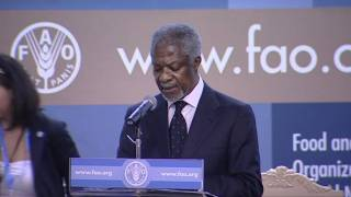 Download Kofi Annan speaking at FAO Conference 37th Session Video