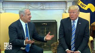 Download WATCH: President Trump meets Israeli Prime Minister Netanyahu at White House Video