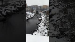 Download Snowy beauty at the Yonkers waterfront Video