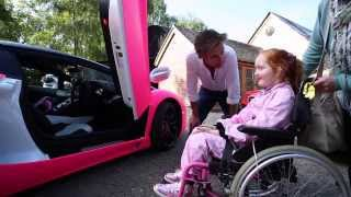 Download Richard Hammond grants Emilia's Rays of Sunshine wish to go in a pink Lamborghini! Video
