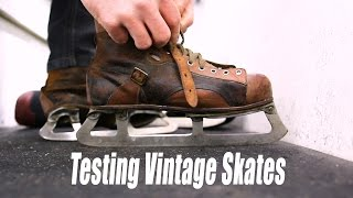 Download Testing Out VINTAGE hockey skates Video