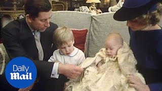 Download Royal family seen gathered in 1984 for Prince Harry's christening - Daily Mail Video