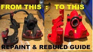 Download [RESTORATION] Piston Brake Caliper Strip Rebuild & Repaint Red Video