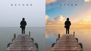 Download How to Change Overcast Photos into Awesome in Photoshop - Add Sunset to Boring Sky Easily & Quickly Video