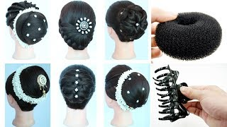 Download 6 juda hairstyle for gown, lehnga, party & weddings | ladies hair style | hairstyle for women | bun Video