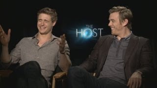 Download Max Irons & Jake Abel on Shirtless Photo Shoots, THE HOST, Swapping Bodies & more Video