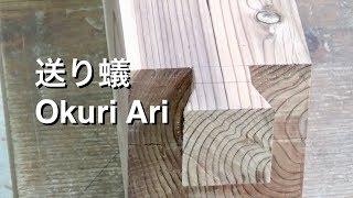 Download 宮大工が職人技で教える初心者のための送り蟻(オス)の作り方動画 Making Okuri Ari (Part 1) Video
