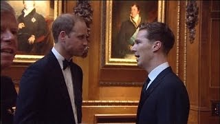 Download Benedict Cumberbatch, Kate Moss, Cara Delevigne and more celebs meet Prince William Video