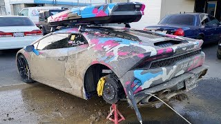 Download DESTROYED MY LAMBO! Regret driving it in the mud... Video