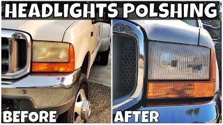 Download 2001 F350 7.3 Project - Plastic Headlights Sanding Polishing To look like glass Video