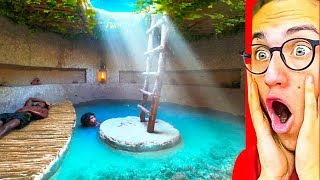 Download They Made The BEST SECRET UNDERGROUND POOL HOUSE! Video