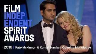 Download Kate McKinnon & Kumail Nanjiani Opening Monologue at the 2016 Film Independent Spirit Awards Video