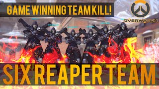 Download Overwatch: 6 Reaper Team! Game winning ″Team Kill″ Funny Video