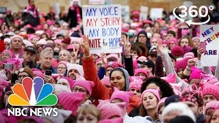 Download Hundreds Of Thousands March For Women In Washington   360 Video   NBC News Video