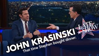 Download John Krasinski vs. Stephen Colbert: Who Paid for Dinner? Video
