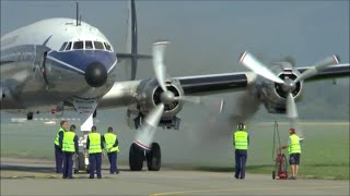 Download [HD] Super Constellation smokey engine startup and takeoff at Altenrhein - 08/07/2015 Video