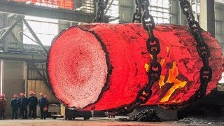 Download Dangerous Biggest Heavy Duty Hammer Forging Process, Fastest Hydraulic Steel Forging Machine Video