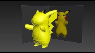 Download 3ds Max Pokemon Pikachu Low Poly modeling Part 1 Video
