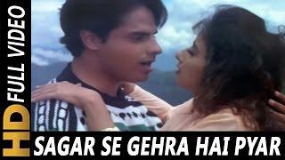 Download Sagar Se Gehra Hai Pyar Hamara | S.P. Balasubrahmanyam, Alka Yagnik | Yeh Majhdhaar 1996 Songs Video