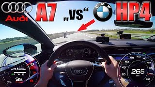 Download New A7 55 TFSI smoked by BMW HP4 at 300km/h on German Autobahn! Video