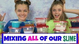 Download Mixing All of Our Slime ~ Huge Slime Smoothie ~ Jacy and Kacy Video