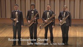 Download Pedro Iturralde - Suite Hellenique with Kritis vocal version | Russian Saxophone Quartet Video