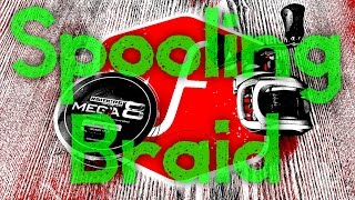 Download How to Spool Braid onto a Baitcaster Video