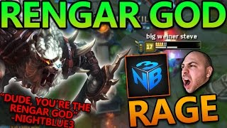Download MAKING NIGHTBLUE3 RAGE AT ME (RENGAR GOD JUNGLE CARRY) - League of Legends With Friends Video