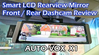 Download AUTO-VOX X1 Fullscreen LCD Rearview Mirror Dashcam REVIEW Video