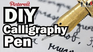 Download DIY Calligraphy Pen - Man Vs Corinne Vs Pin - Pinterest Test #61 Video