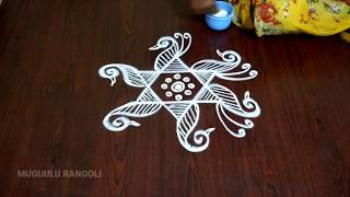 Download sravana sukravaram muggulu designs easy simple rangoli design rangoli latest designs telugu rangoli Video